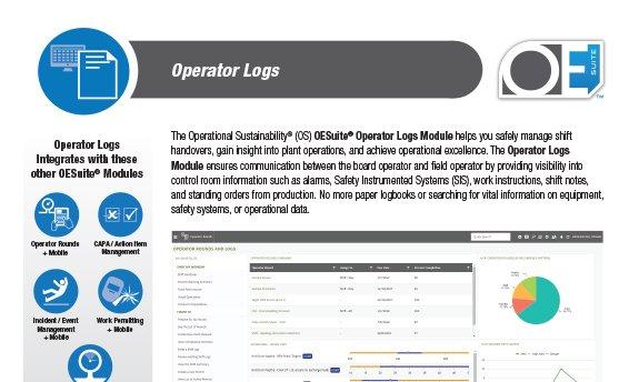 operator logs brochure