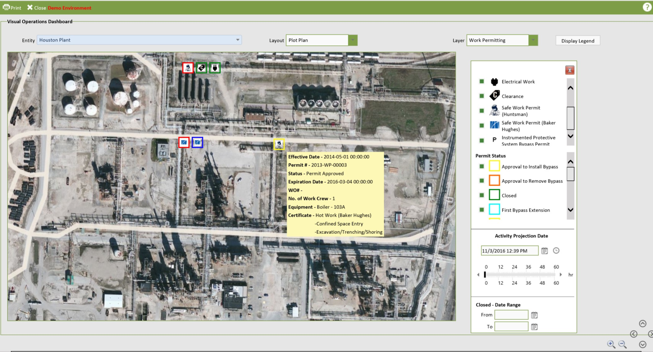 Screenshot of the OESuite® Visual Operations dashboard.